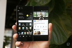 ZTE が折り畳み2画面スマートフォン Axon M を発表しました。 5.2インチ画面のスマホが2枚つながったような形状で、それぞれ別のアプリを動かすマルチタスクにも、対角6.75インチの大画面一枚としても使えるユニークな端末です。 %Slideshow-799100%
