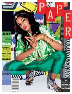 Great cover Papermag - M.I.A.   Nov. 2012 Issue