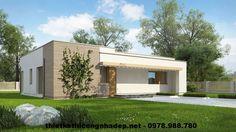 Nhà cấp 4 mái bằng, thiết kế nhà cấp 4 mái bằng NDNC43