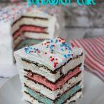 Red White & Blue Ice Cream Sandwich Cake - Raining Hot Coupons