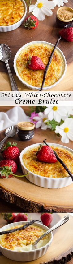 This recipe for Skinny, White Chocolate Creme Brulee cuts major calories and fat. 277 calories per serving! And it's one of the most delicious desserts you'll ever taste!
