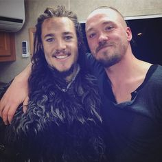 """That's a wrap for us. It's been a pleasure"" Alexander Dreymon (left) and Christian Hillborg From https://www.instagram.com/p/BMu2jRjlYfG"