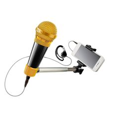 Microphone meets selfie stickto take you beyond Karaoke.Using the free included partner app, sing along to your favorite songs from a catalog of over 3 Million songs with updates daily. Voice and video effects make you sound and look like a star.<br><br>The SelfieMic Music Set - Black Features:<br><ul><li>Microphone meets selfie stick  to take you beyond Karaoke.  </li><br><li>Using the free included partner app, sing along to your favorite  songs from a catalog of ov...