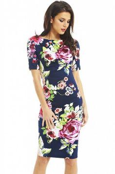 512ce4fa51b623 Floral Print Short Sleeve Midi Dress Zomerjurken Voor Vrouwen