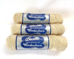 Bucilla Wondersheen Super Mercerized Cotton #Knitting #Crochet Thread Ecru https://www.etsy.com/listing/179348396/bucilla-wondersheen-super-mercerized