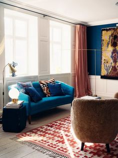 Inside A Danish Apartment With Bold Use Of Color Living RoomRetro