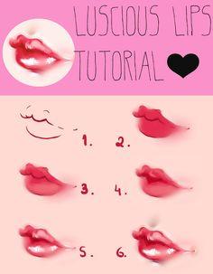 Luscious Lips - Video Tutorial by Kipichuu.deviantart.com on @deviantART