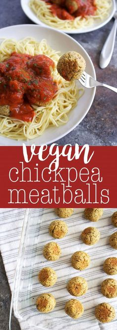Vegan Chickpea Meatball recipe. #vegan #oilfree #meatlessmonday