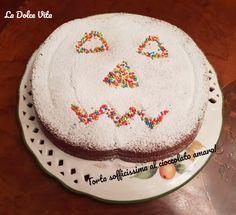 #Torta sofficissima al #cioccolato amaro Birthday Cake, Baking, Halloween, Desserts, Food, Bread Making, Tailgate Desserts, Birthday Cakes, Deserts