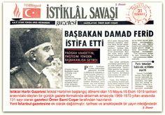 DAMA FERİT İSTİFA 21.07.1919