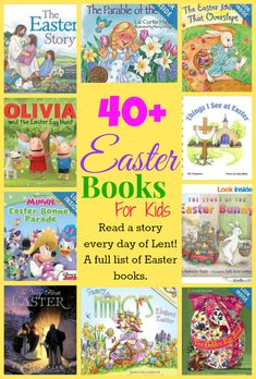 40 Days of Children's Easter Books for Lent - Serendipity and Spice #Easter #Lent