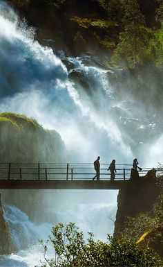 Waterfall near Briksdal Glacier in Norway. Click through to see 20 more photos that will inspire you to travel to Norway!