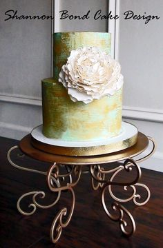 Antique Gold Painted Cake