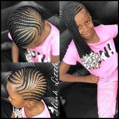 Must-try Braided Hairstyles Lil Girl Hairstyles Braids, Lemonade Braids Hairstyles, Kids Braided Hairstyles, Black Girls Hairstyles, Infant Hairstyles, Children Hairstyles, Teenage Hairstyles, Little Girl Braids, Black Girl Braids