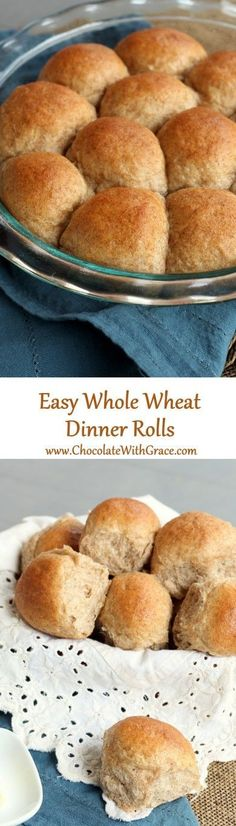 Easy Whole Wheat Dinner Rolls | easy dinner rolls | healthy dinner rolls | quick dinner rolls #dinnerrolls #yeastrolls #wholewheat #healthy