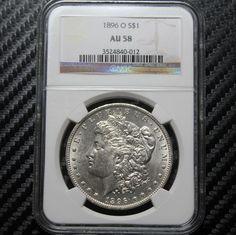 1896 O Morgan Silver Dollar NGC AU58 40 012 | eBay