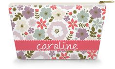 Personalized Make Up Bag - Red Blooms - Caroline And Company