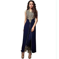 Buy Salesway Blue Georgette Dress Material by salesway, on Paytm, Price: Rs.1149?utm_medium=pintrest