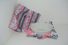 Microwave Bowl Cozy, Set of one small, one large - pinned by pin4etsy.com