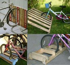 Range  vélo en palettes.....