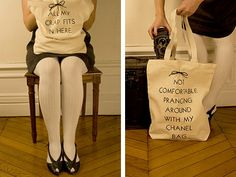 Maude and Tilda Anti-Fashion Tote Bags