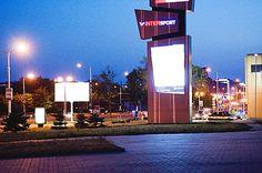Skala shopping center in the evening