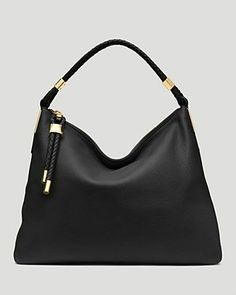 Skorpios Top-Zip Hobo Bag by Michael Kors at Neiman Marcus. Michael Kors Bags Outlet, Michael Kors Hobo, Michael Kors Shoulder Bag, Handbags Michael Kors, Shoulder Strap Bag, Black Shoulder Bag, Leather Shoulder Bag, Hobo Handbags, Shoulder Handbags