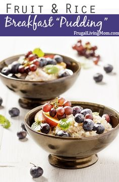 Fruit & Rice Breakfast Pudding plus 24 more gluten and dairy free breakfast recipes