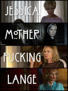 Jessica Lange Ahs, American Horror Story Memes, Frances Movie, Tate And Violet, Happy Stories, Zachary Quinto, Evan Peters, Movies Showing, Horror Stories