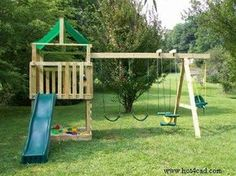 DIY Kids Outdoor Playset Projects • A roundup of 12 of the best projects we could find - with tutorials! • Including this one from hot4cad.