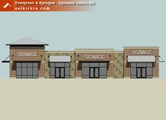 Strip Mall Layout | ... Strip Center (46kb jpg) Aerial view of the Evergreen…