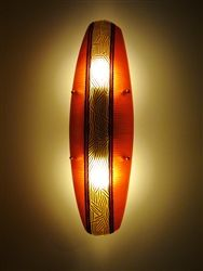 Beautiful handmade sconce by Oggetti:  Mandala Graffitti Topaz