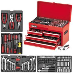 968d17305 Clarke - 242 piece Tool Set   Chest tracked deliviery