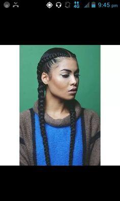 Super cute goddess braid hairstyle
