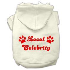 Local Celebrity Screen Print Pet Hoodies Cream Size Med (12)