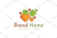 For sale. Only $29 - food, drink, fruit, vegetable, vitamins, nutrition, healthy, eat, abstract, juice, square, natural, grow, colorful, spectrum, carrot, apple, strawberry, stylized, fresh, organic, farm, orchard, supplement, diet, logo, design, template,