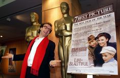 Most Foreign Language wins  With 10 wins, Italy is the country with the most number of wins for Foreign Language Film at the Oscars. Pictured: Italian Oscar winner Roberto Benigni with a poster from his 1997 Oscar-winning movie Life Is Beautiful.  50 incredible Oscar facts