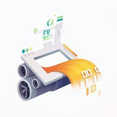 WebAssembly engine final illustration.  #webassembly #dev #engine #machine #designprocess #frontend #webdevelopment #egghead #code #coding #developers #development