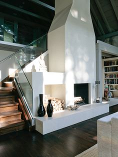 Modern Farmhouse Design, Pictures, Remodel, Decor and Ideas - Fireplace Ideas