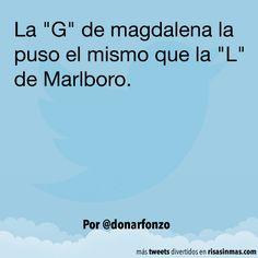 """La """"G"""" de magdalena. #humor #risa #graciosas #chistosas #divertidas"""