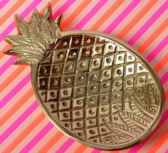 Brass Pineapple Coin Dish