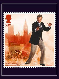 Roger Moore as James Bond Collage by JBLee #JamesBond #007
