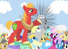 Ultimate Brohoof by Fembot13.deviantart.com on @deviantART. Featuring characters from hasbros my little pony friendship is magic (mlp fim) e.g. big mac, smarty pants, derpy, dinky hooves, bonbon, lyra heartstrings,golden harvest, Octavia, carrot top, daring do, rainbow dash, soarin, cheerilee, flim flam brothers.