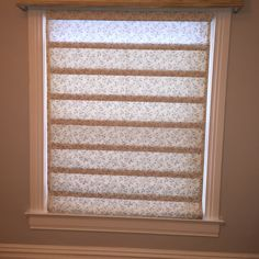 DIY roman shade made with a blind and fabric