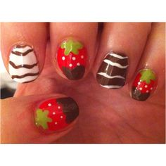 My Chocolate dipped strawberry nails