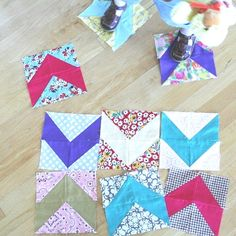 Cluck Cluck Sew - forties chevron quilt pattern link on this page. Can't wait to try this!