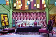 Tissu Pierre Frey 2012 : découvrez les plus beaux tissus Pierre frey - Côté Maison L And Light, Deco Design, Color Of Life, Home Furnishings, Indoor, Couch, Curtains, Contemporary, Furniture