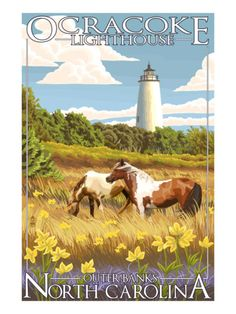 poster for Ocracoke Lighthouse - Outer Banks, North Carolina