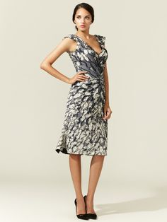 Jacquard Off Shoulder Dress by Zac Posen at Gilt The back is just as cute