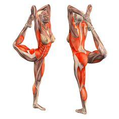 Standing lord of dance with both hands: right foot grab - Maha Natarajasana right - Yoga Poses | YOGA.com